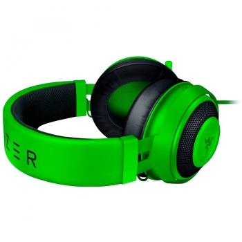 Razer Kraken Green 2019, Drivers: 50 mm with Neodymium magnets, Frequency response: 12 Hz – 28 kHz, Cooling Gel-Infused Cushions, Bauxite Aluminum Frame, Retractable Unidirectional Microphone, Input power: 30 mW -RZ04-02830200-R3M1