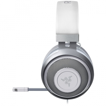 Razer Kraken White 2019, Mercury, Drivers: 50 mm with Neodymium magnets, Frequency response: 12 Hz – 28 kHz, Cooling Gel-Infused Cushions, Bauxite Aluminum Frame, Retractable Unidirectional Microphone, Input power: 30 mW -RZ04-02830400-R3M1