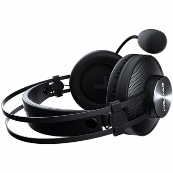 COUGAR Immersa Essential, 40mm Driver: High-quality Stereo Sound, 9.7mm Noise Cancellation Cardioid Microphone, 260g ultra Lightweight Suspended Leatherlike Headband Design, Volume Control & Microphone Switch Control CG3H350P40B0001-CG3H350P40B0001